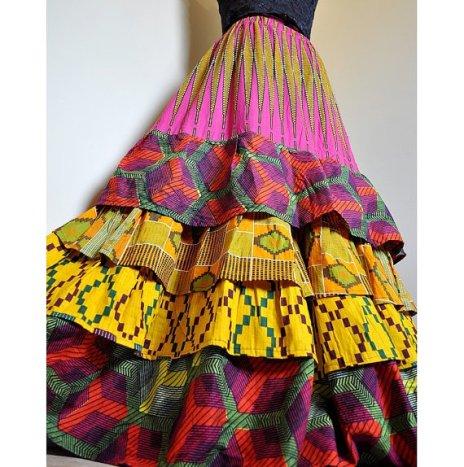 boho afro skirt