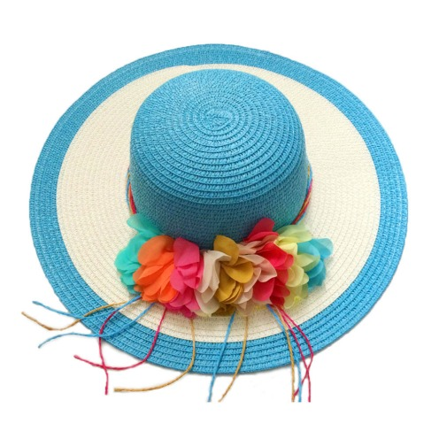 Fashion-Bohemian-Style-Summer-Sun-Hat-Vintage-Flower-Womens-Straw-Hat-Color-Striped-Beach-Sun-Hat