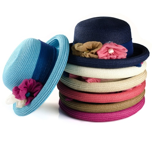 Japan-s-forestry-department-fashion-ladies-straw-hat-summer-sun-hat-flowers-curling-M0162-FasterFree-Shipping